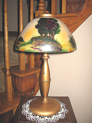 Antique Pittsburgh Obverse Painted Not Reverse Painted Lamp