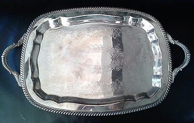 Vintage Sheridan Silver on copper serving tray