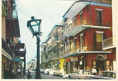 """Vintage collectible 4"""" x 6"""" POSTCARD French Quarter New Orleans Louisiana USA"""