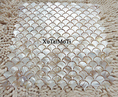 fish scale shell mosaic tile mother of pearl kitchen backsplash wall tile