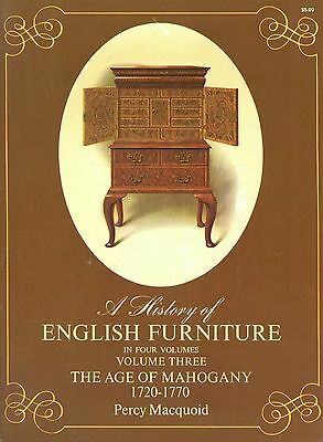 Antique English Mahogany Furniture (1720-1770) / Scarce Illustrated Book