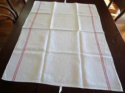 Monogrammed French vintage traditional style farmhouse teatowel