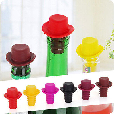 Cute Silicone Rubber Wine Beer Bottle Stopper Cap Cover Sealer