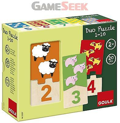 Goula Numbers 1-10 Duo Wooden Puzzles - Games/puzzles Board Games Brand New