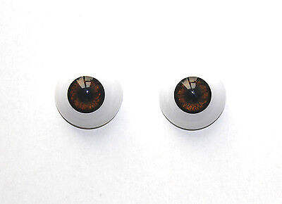1 Pair Reborn Doll Eyeball 22 mm Half Round Acrylic Brown Eyes Doll Accessories