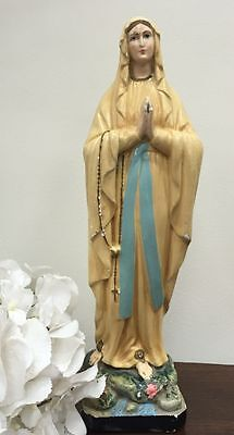 Virgin Mary Statue French Religious Lourdes Dupont Madonna  30cm - h007
