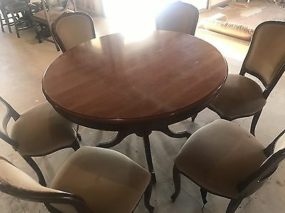 Dining Table And Chairs Antique Reproduction