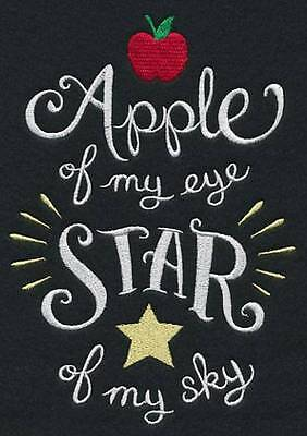 Apple of my eye star of my sky  - Embroidered pillowcase  - can personalise