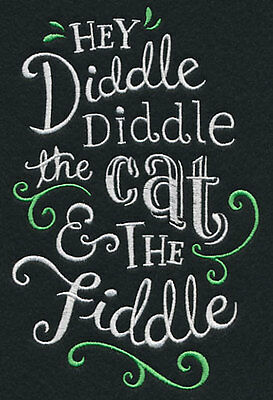 Hey Diddle Diddle the cat and the fiddle pillowcase  - can personalise