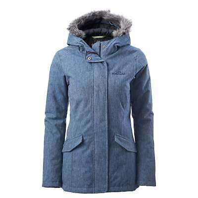 Kathmandu Frisco Womens Hooded Duck Down Coat Long Winter Jacket v2 Blue