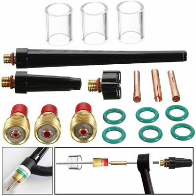 18Pcs TIG Welding Torch Stubby Gas Lens #10 Glass Nozzle Cup Kit For WP-9/20/25