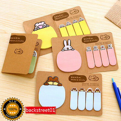 1pcs Funny Animal Sticker Bookmark Sticky Notes Point Marker Memo Post Tab Flag