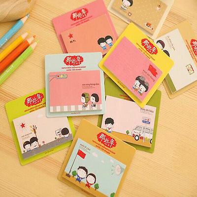 1pcs Concise Cute Sticker Bookmark Sticky Notes Point Marker Memo Post Tab BKo1