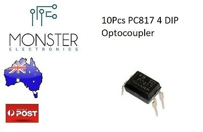 10Pcs PC817 4 DIP Transistor Output Optocoupler