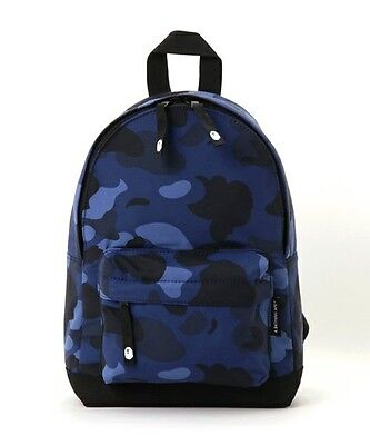 A BATHING APE BAPE KIDS COLOR CAMO DAY PACK Bag Backpack Navy Casual Sports New