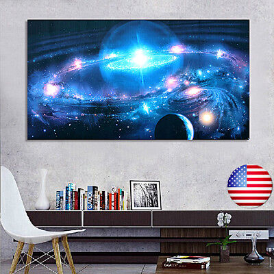 Andromeda Galaxy Stars Universe Space Silk Poster Art Wall Home Decor 43 x 24""