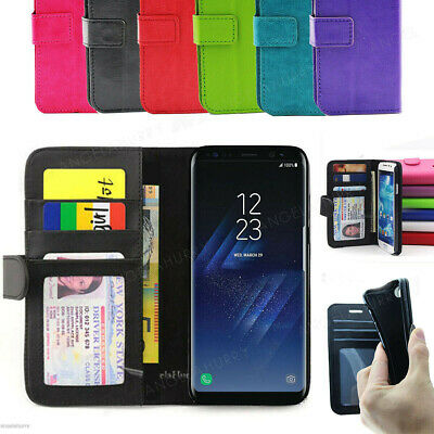 Galaxy S9 S8 S5 S6 S7 edge Plus Case, Wallet Flip Leather Cover For Samsung