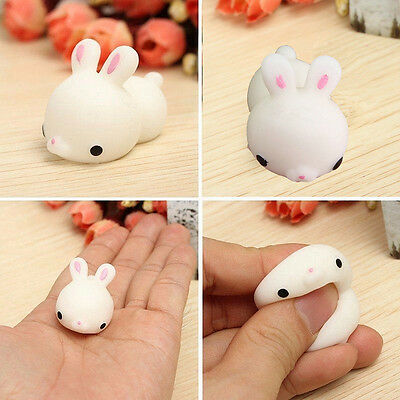 Mochi Cute Bunny Rabbit Squishy Squeeze Healing Stress Reliever Toy Gift Decor C
