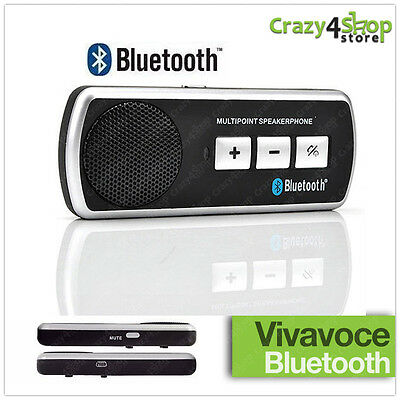Kit Vivavoce Bluetooth Per Auto Universale Speaker Smartphone Cellulare Car