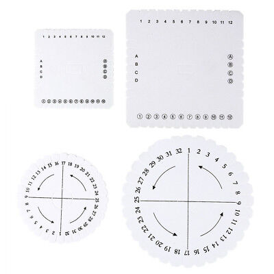 Square Round Kumihimo Braiding Cord Disc EVA Foam Plate DIY Braided White