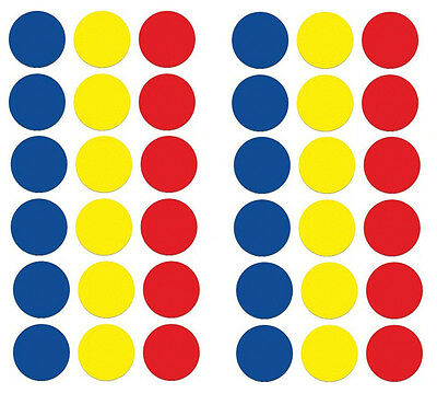 19mm Mixed Colour Round Self Adhesive Label Stickers Coloured Circle Sticky Dots