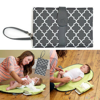 Foldable Washable Nappy Diaper Changing Mat Baby Portable Folding Pad Bag
