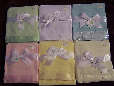 NWT STARTING OUT THERMAL BABY BLANKET Yellow Ivory White Blue Pink Green Gray