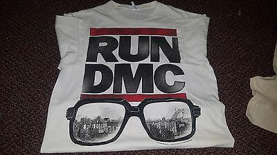 RUN DMC Hip Hop Rap Band T-shirt Men's M Medium White Delta 100% Cotton 2014