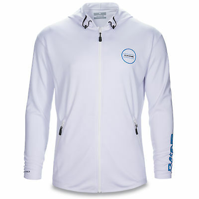 Dakine Inlet Loose Fit Zip Hoodie Surf SUP Quick Dry Sun Protection White