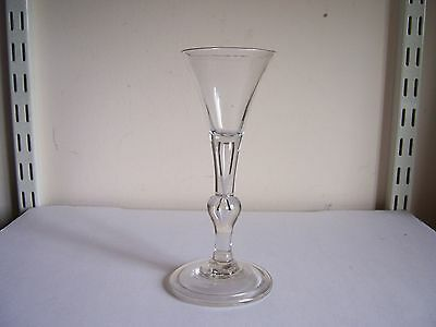 A VERY RARE EARLY 18th CENTURY BALUSTROID  STEM WINE GLASS