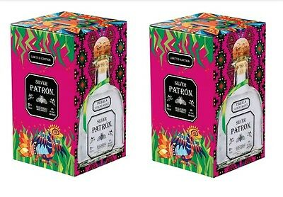 Patron Tequila Limited Edition Collectors Tin Box Aztec Inspired w/empty bottle