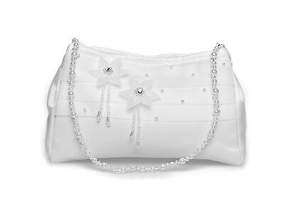 Girl 1st Holy Communion Dolly Bag/Bridesmaid Bridal Handbag,Organza Flowers
