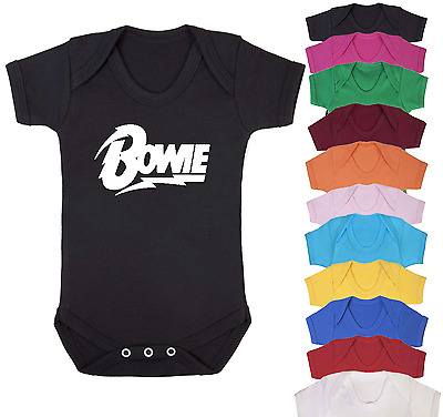 Bowie Music Inspired Baby Vest Babygrow Baby Shower Music fan Baby Gifts