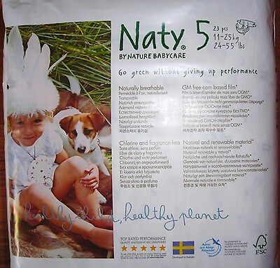 NATY 3 x 23 couches = 69 (taille 5 : 11 à 25 kg)