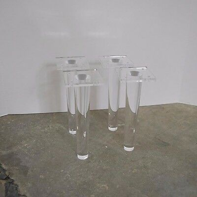 Set of 4 Lucite/Acrylic Furniture Legs Mid Century Style