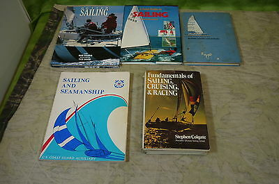 SAILING Book Guide Catamarans Racing Cruising Seamanship Big Lot of 5 Books