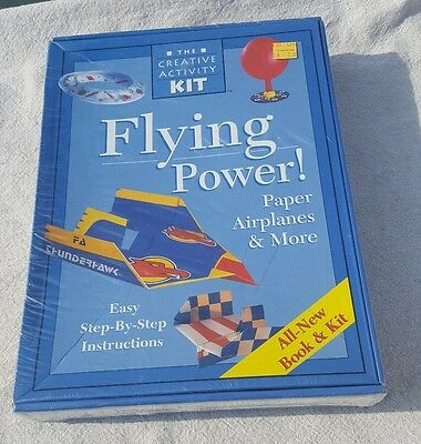 The Creative Activity Kit Paper Airplane Power Box Set Material and Book New