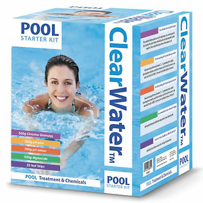 Swimming Pool Starter Kit Treatment & Chemicals for Clean Healthy Spa Water