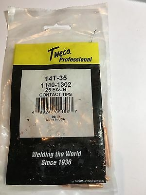 MIG Contact Tips TAPERED- TWECO #2,3,4 Styl- 0.9 mm -25 pack- LONG LIFE 14T35