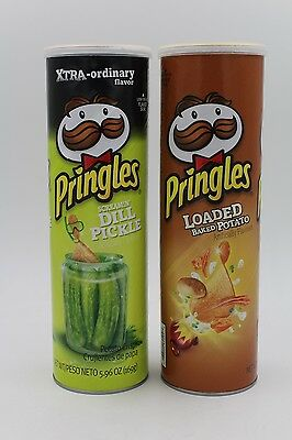 Pringles 2pack: Scremin' Dill Pickle & Loaded Baked Potato Free UK Delivery