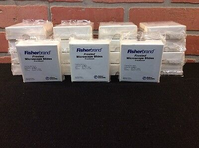 Fisherbrand Frosted Microscope Slides Precleaned 25 X 75 X 1.0mm 12-552-3