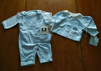 Lot of 5 Infant/Baby Boys Cothes One Piece/Hats/Shirt - Newborn-0-3 Months