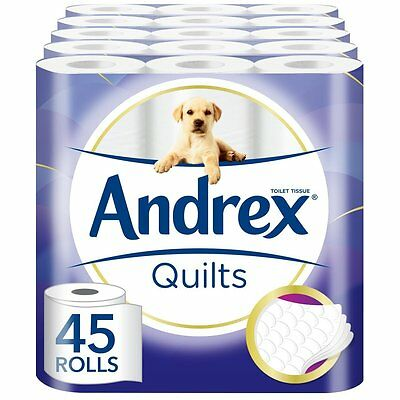 Andrex Quilts Toilet Roll Tissue Paper - 45 Rolls SOFT FOR ALL THE FAMILY