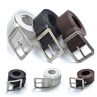 Men Leather Belts Belt Buckle Fashion Designer Jeans Waist Belt New Hot US Stock