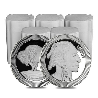 Lot of 100 - 1 oz Buffalo Stackable Silver Round .999 Silver (5 Lot,Tube of 20)