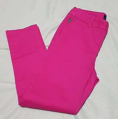 Ralph Lauren Polo Girl's Chino Trousers Pink Age 10 / 137-140Cm  Rrp £69