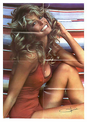 Farrah Fawcett Red Bathing Suit Poster -- HER OWN COPY