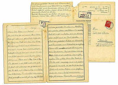 Dachau Concentration Camp Letter From 1942