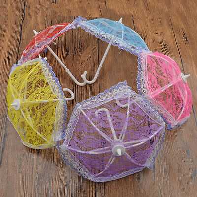 Plastic Lace Umbrella For Kids Doll Toly Accessories Decoration Cute Random 1Pc