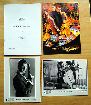 The World Is Not Enough (1999) Movie Press Kit Pierce Brosnan James Bond